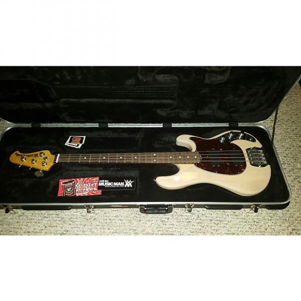 Custom Ernie Ball Music Man Classic Sabre Bass Guitar 2013-2014 Trans White #1 image