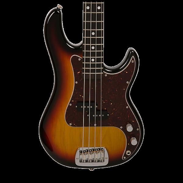 Custom G&L USA LB-100 Electric Bass - Nitro 3 Tone Sunburst with Case #1 image