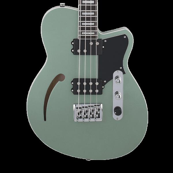 Custom Reverend Dub King Semi-Hollow Bass - Metallic Alpine #1 image