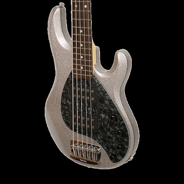 Custom Ernie Ball Music Man StingRay 5 HH Bass - Silver Sparkle #1 image