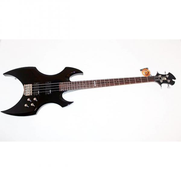 Custom ESP LTD AX-104 4 String Black Electric Bass Guitar #1 image