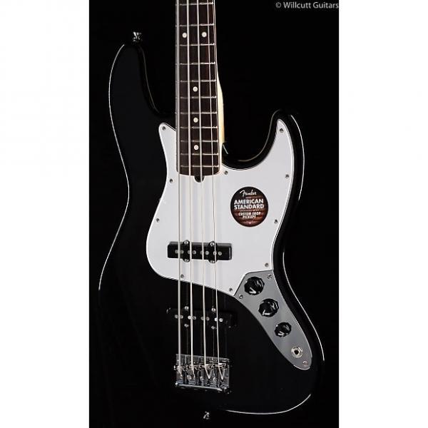Custom Fender American Standard Jazz Bass® Black, Rosewood (537) #1 image