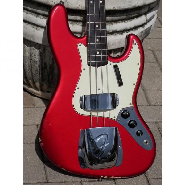 Custom Fender Jazz Bass 1965 Candy Apple Red #1 image