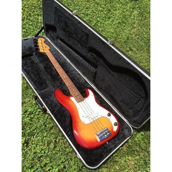 Custom Early 1980's Fender Precision Bass Elite in Cherry Burst #1 image
