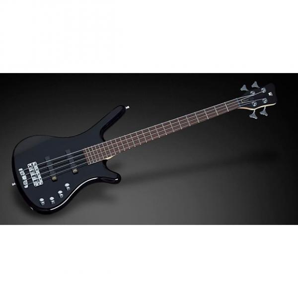Custom Warwick RockBass Corvette Basic 4-String Active Bass Guitar Black High Polish #1 image