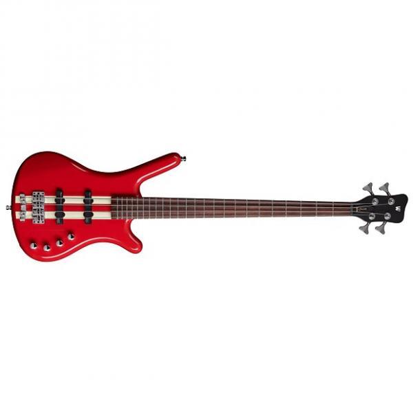 Custom Warwick RockBass Corvette Basic Active Electric Bass Guitar Racing Red Finish #1 image