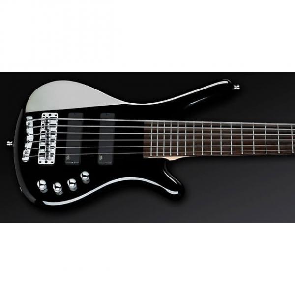 Custom Warwick RockBass Corvette Basic 6-String Active MEC Fretted Bass Guitar Black #1 image