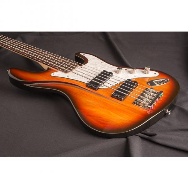 Custom Dean Zelinsky Mule Bass 5-String 2015 Three Tone Sunburst #1 image