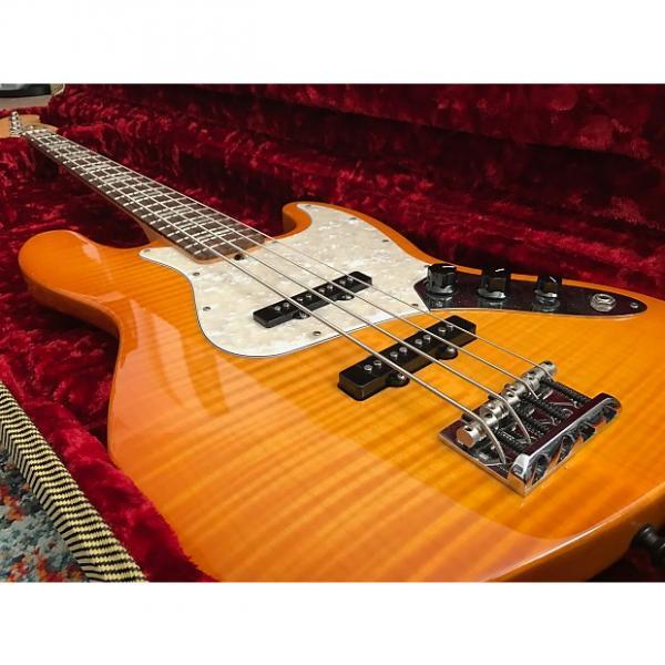 Custom Fender American Select Jazz Bass (Amber Burst) #1 image