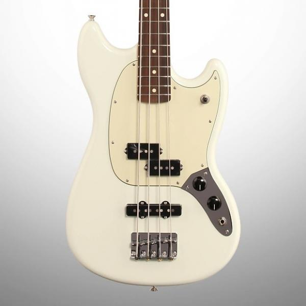 Custom Fender PJ Mustang Electric Bass, Sonic Blue #1 image