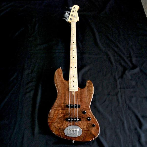 Custom Rare Lakland USA 44-60 Custom Curly Walnut 4 String Jazz Bass #1 image