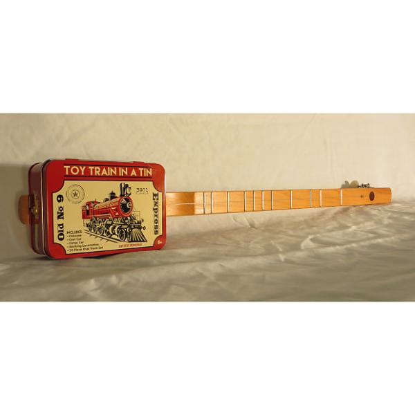 Custom CANJO / Strumstick / Diddly Bow / Cigar Box Guitar with Rail Road Graphics by Uncle Buck #1 image