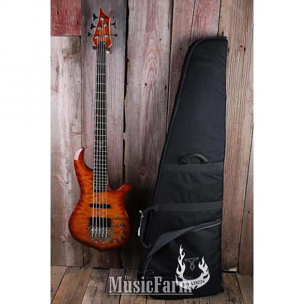 Custom Traben 5 String Electric Bass Guitar Ash Body Flame Maple Top with Gig Bag #1 image