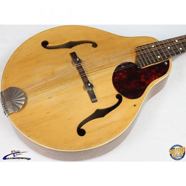 Custom Vintage 1950's Kay / Silvertone A-Style Mandolin w/ Case, Natural, '50s #7068 #1 image