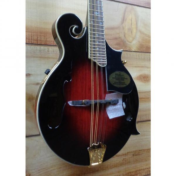 Custom Washburn M3SWETWRK Acoustic Electric F-Style Mandolin Trans Wine Red w/Case #1 image