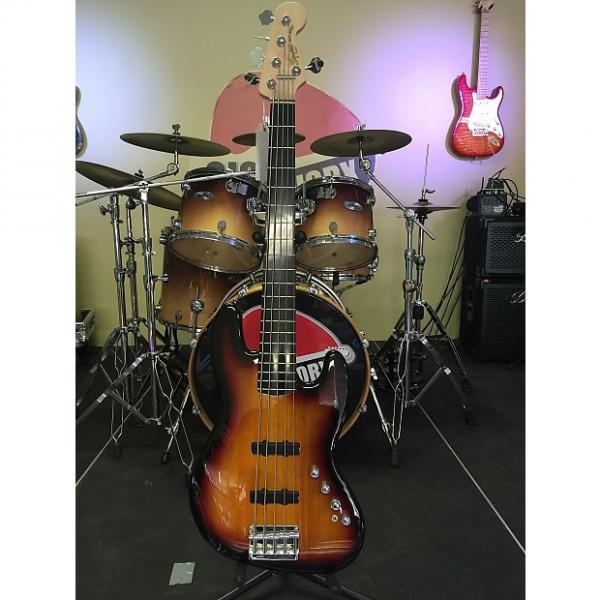 Custom Squier Deluxe Active Jazz V Bass 3 Color Sunburst #1 image
