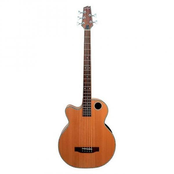 Custom Boulder Creek Cedar Acoustic Elect 5-Str Bass Model EBR3-N5LHF Lefty Fretless #1 image