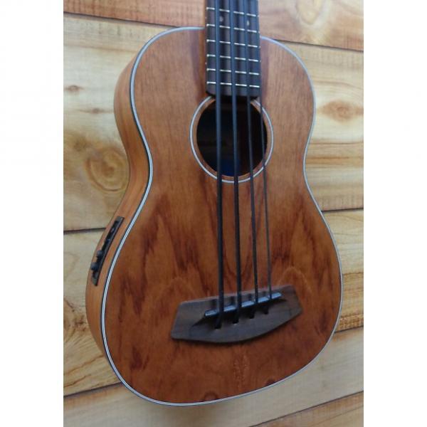 Custom New Kala U-Bass Bubinga Fretted Acoustic Electric Ukulele Bass Natural Satin w/Gigbag #1 image