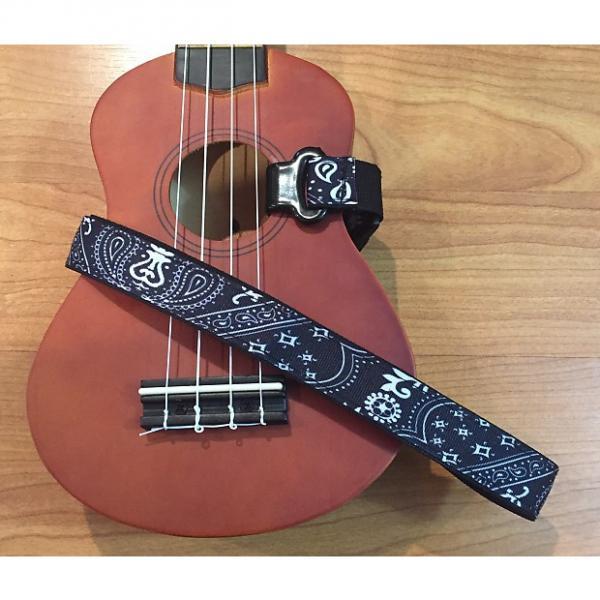 Custom Master Strap Ukulele Strap - Black Bandana #1 image