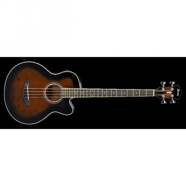 Custom Ibanez AEB10E Acoustic-Electric Bass Guitar in Dark Violin Sunburst High Gloss F #1 image