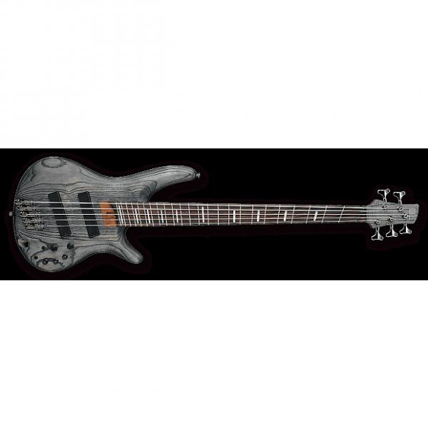 Custom Ibanez SRFF805 BKS SR Series 5-String Multi-Scale Electric Bass Black Stained #1 image