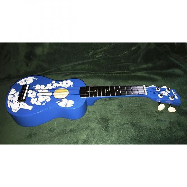 Custom Keiki Ukulele - Blue Floral - Free Shipping! #1 image