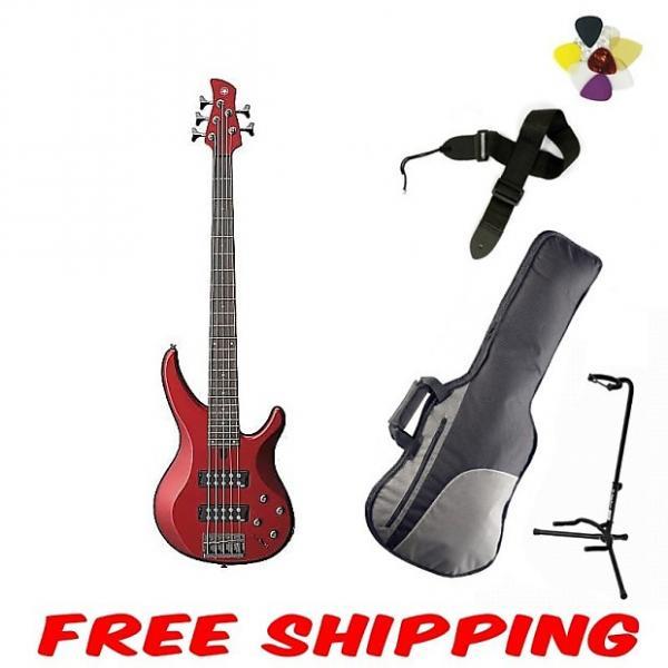 Custom Yamaha TRBX305 Bass - Candy Apple Red #1 image