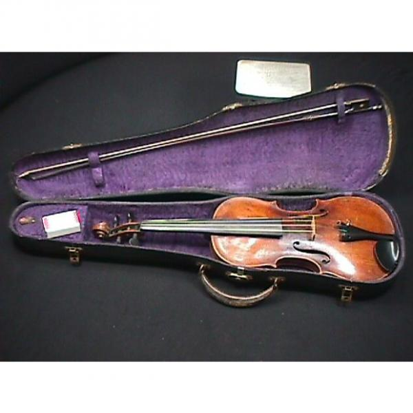 Custom Antique Signed Joh. Bapt. Schweitzer Full Size 4/4 Violin, Bow & Case Ready to Play 1 Piece Back # 4 #1 image