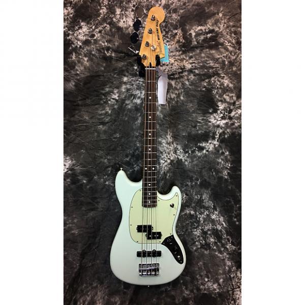 Custom Fender Offset Series Mustang PJ Bass 2016 Sonic Blue, Rosewood Fretboard #1 image