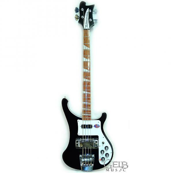 Custom Rickenbacker True Classic 4003 Electric Bass Black Jetglo Stereo W/Case - 4003JG #1 image