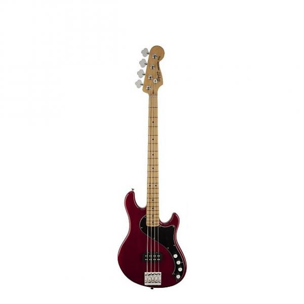 Custom Squier (Fender) Deluxe Dimension Bass IV [DISPLAY MODEL] Crimson Red Transparent 4-String Electric B #1 image