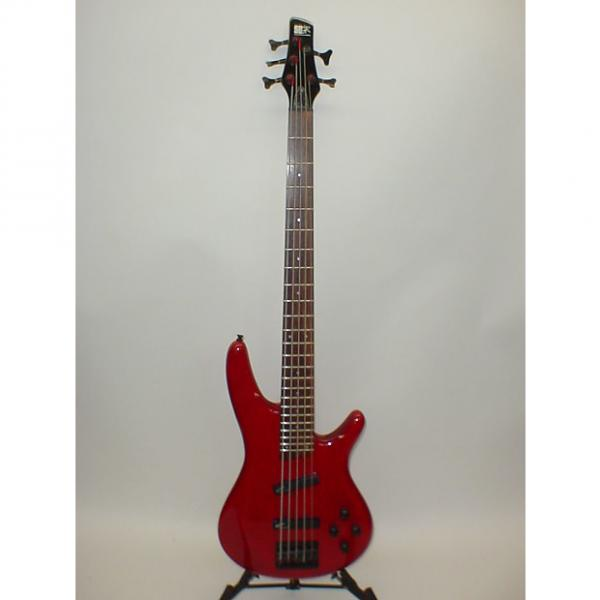 Custom Ibanez SR505 Soundgear 5-String Bass Trans Red Finish - Previously Owned #1 image