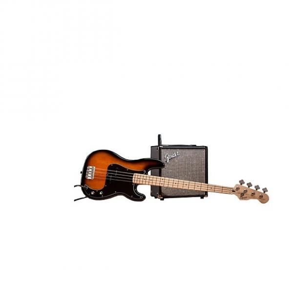 Custom Squier (Fender) Stop Dreaming, Start Playing Set Affinity Series Brown Sunburst Precision Bass with #1 image