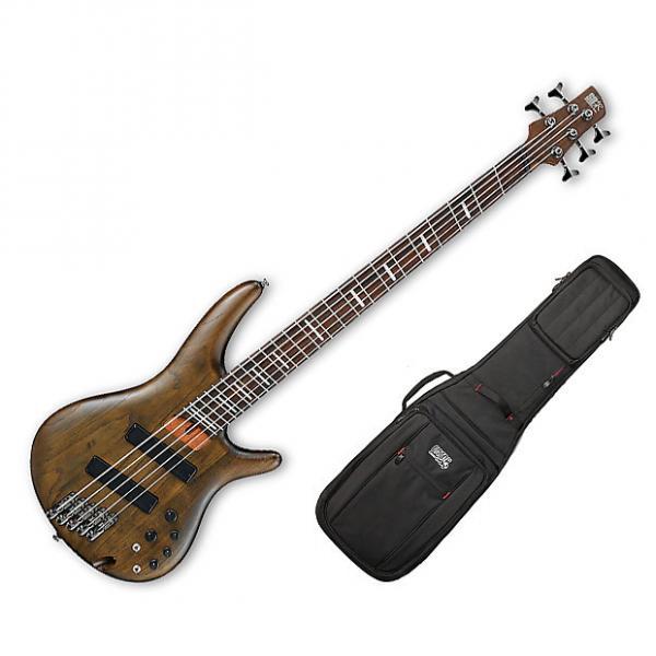 Custom Ibanez SRFF805 5-String Multi-Scale - Walnut Flat w/Gig Bag #1 image