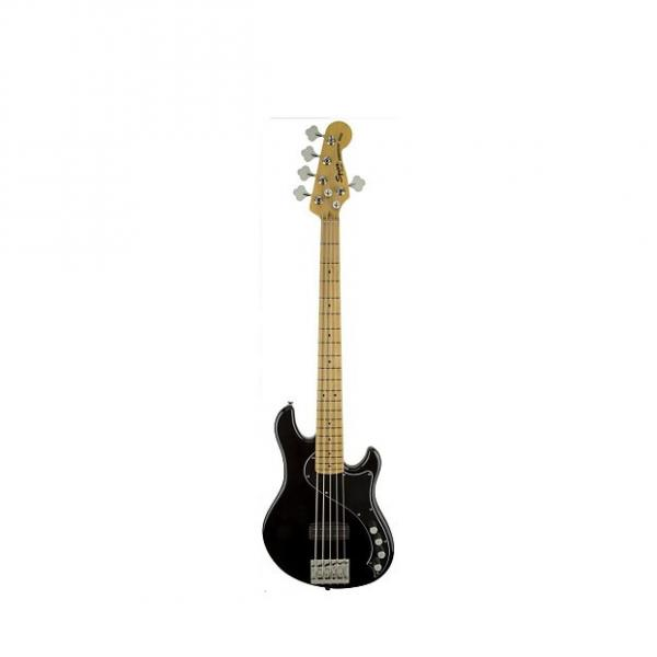 Custom Squier (Fender) Deluxe Dimension Bass V Black 5-String Electric Bass #1 image
