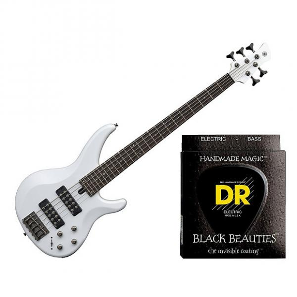 Custom Yamaha TRBX305 5 String Electric Bass White w/Set DR Strings BKB5-45 #1 image