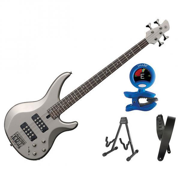 Custom Yamaha TRBX304 Electric Bass Pewter Bonus Kit #1 image
