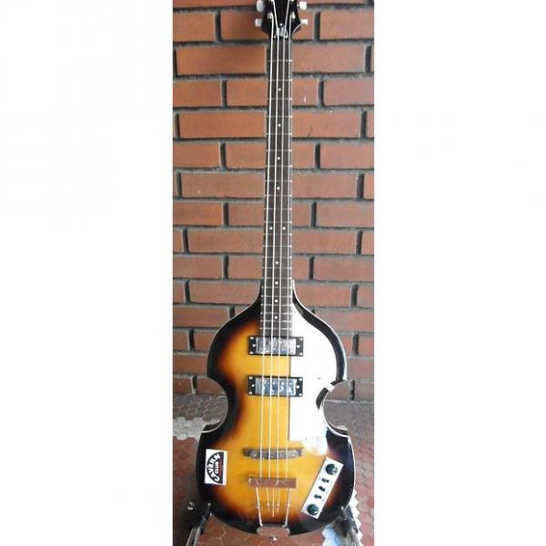 Custom Hofner Ignition Cavern Club Beatle Bass Sunburst With Case #1 image
