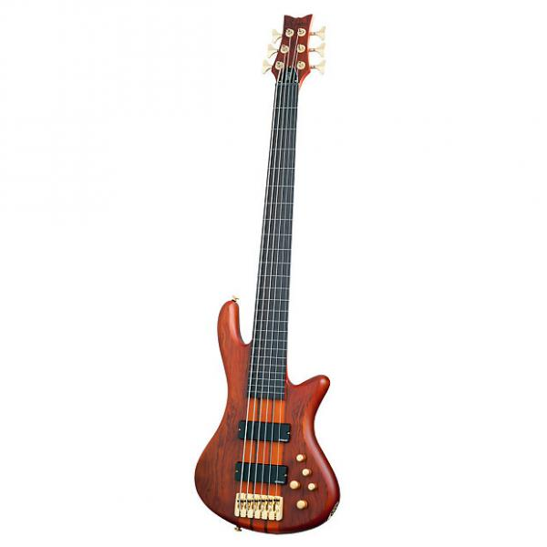 Custom Schecter Stiletto Studio-6 Electric Bass Feetless (6 String, Honey Satin) 2791 #1 image