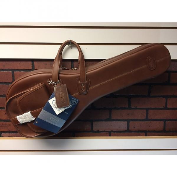 Custom Reunion Blues A-Style Mandolin Bag Chestnut Brown Leather #1 image
