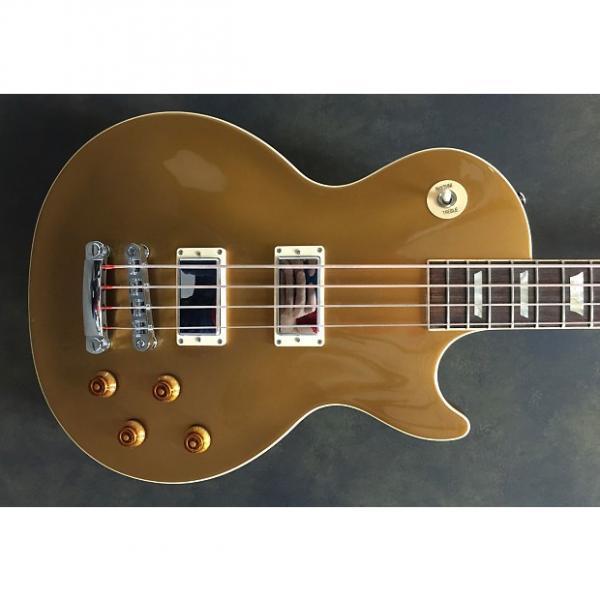 Custom Gibson Les Paul Bass Nitro Gold Top #1 image
