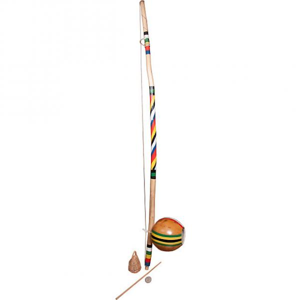 Custom Mid-East Berimbau Painted Spirals Large Gourd (2 Boxes) #1 image