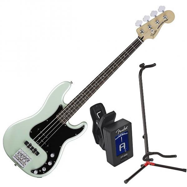 Custom Fender 014-3410-349 Deluxe Surf Pearl Active P Bass Bundle #1 image