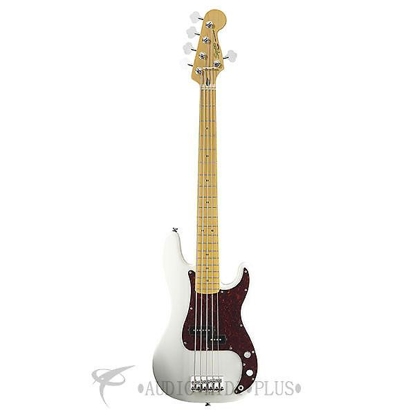 Custom Fender Squier Vintage Modified Precision Maple Fingerboard 5-String Electric BassGuitarOlympic White #1 image
