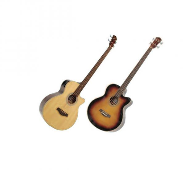 Custom Crestwood Acoustic Acoustic Bass Guitars with 4 band EQ #1 image