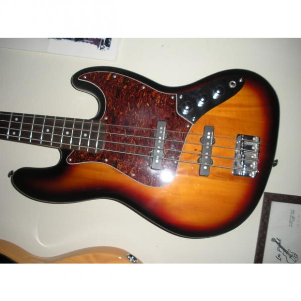 Custom Fender  Squire Vintage Modified Jazz  Bass rare flamed neck headstock  very  rare sounds unreal #1 image
