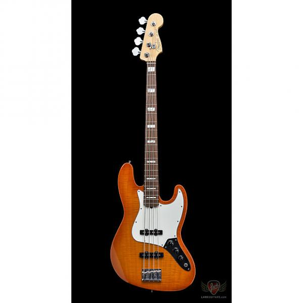 Custom Fender American Select Jazz Bass RW - Amber Burst (135) #1 image