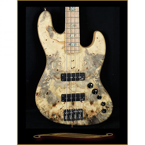 Custom Spector Coda 4 Deluxe with Buckeye Burl Top Satin Natural #1 image