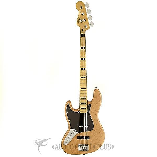 Custom Fender Squier Vintage Modified Jazz 70s LH MP Fingerboard 4/S Electric Bass  Natural - 0306722521 #1 image
