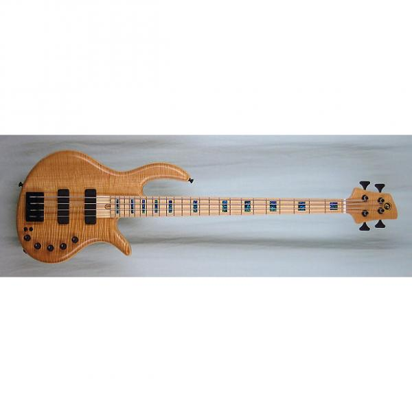 Custom Elrick Handcarved e-volution 4-String Bass Guitar, Gold Series, Maple Fingerboard #1 image